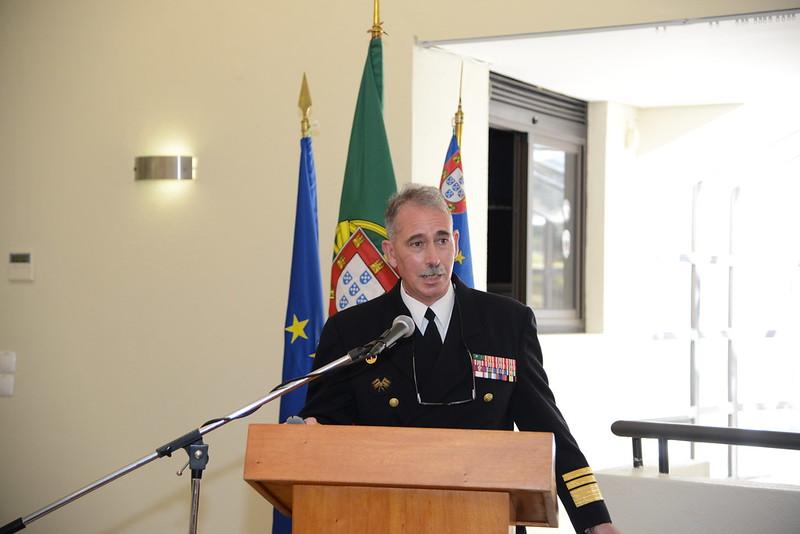 O Vice-Almirante Sousa Pereira falou sobre os Desafios de um Estado Soberano em Matérias de Segurança Marítima (imagem MDN)