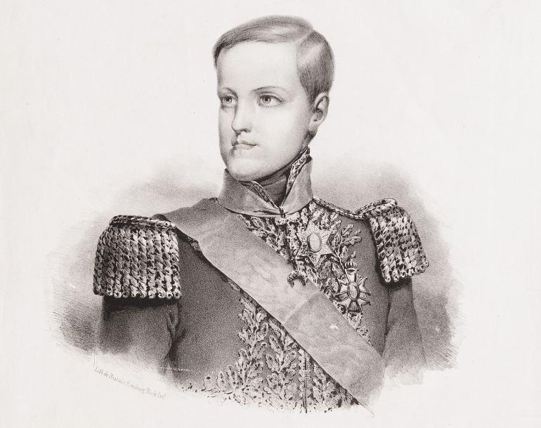 D. Pedro II, autor desconhecido c. 1845 (Coleção Brasiliana Iconográfica)