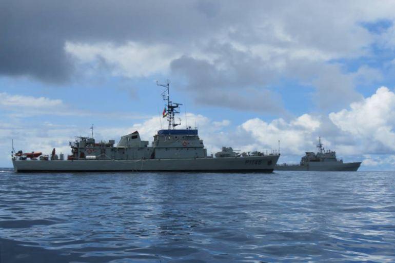 O NRP ZAIRE tem assegurado a participação em importantes exercícios internacionais na região do Golfo da Guiné, como o African Nemo 2019, que foi organizado pela marinha nacional e na qual também participou o navio patrulha oceânico espanhol ATALAYA (imagem MGP)