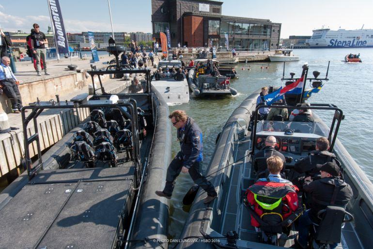 Os fabricantes disponibilizaram embarcações para teste em alto mar. (imagem Dan Ljungsvik, HSBO)
