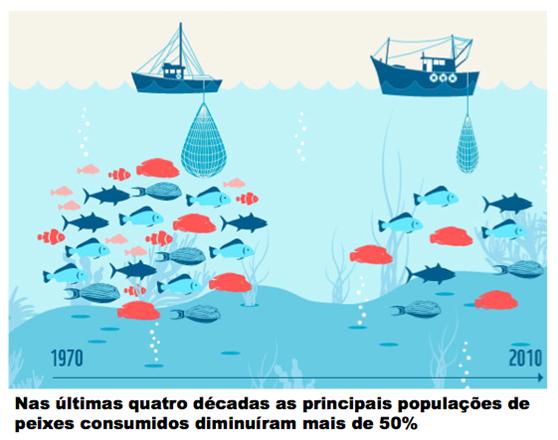 Na falta de controlo efetivo a pesca industrial intensiva compromete a capacidade de renovação das populações de peixes e leva ao esgotamento dos recursos, à chamada tragédia dos comuns.